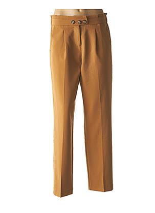 Pantalon chic beige GRACE & MILA pour femme