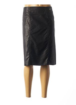 Jupe mi-longue noir FELINO pour femme