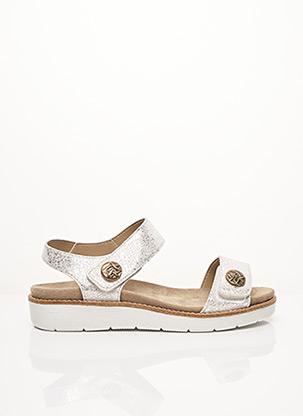 Sandales/Nu pieds gris ACO pour femme