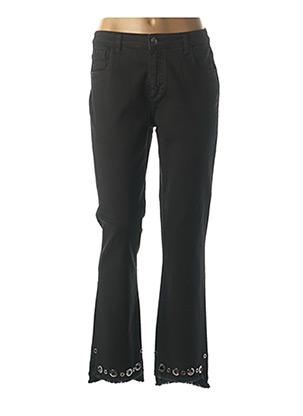 Jeans coupe droite noir LAUREN VIDAL pour femme