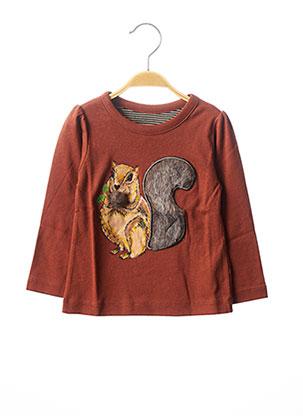 T-shirt manches longues marron MILK ON THE ROCKS pour enfant
