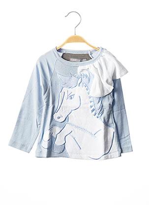 T-shirt manches longues bleu MILK ON THE ROCKS pour fille