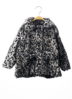 Manteau long gris MILK ON THE ROCKS pour fille