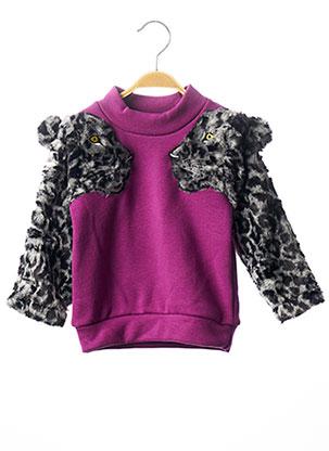 Sweat-shirt violet MILK ON THE ROCKS pour fille