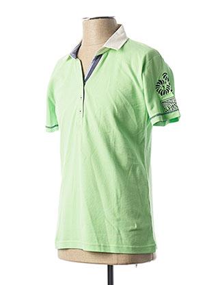 Polo manches courtes vert LA SQUADRA pour homme