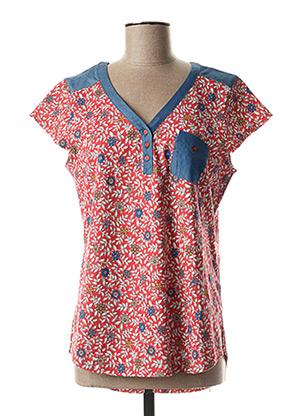 T-shirt manches courtes rouge FELINO pour femme