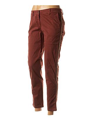 Pantalon chic orange PAKO LITTO pour femme