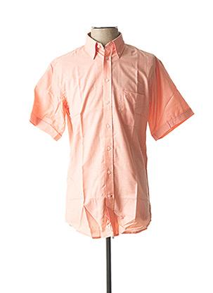 Chemise manches courtes orange CHATEL pour homme
