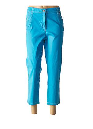 Pantalon 7/8 bleu ANNE KELLY pour femme