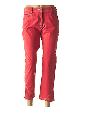 Pantalon 7/8 rouge ANNE KELLY pour femme