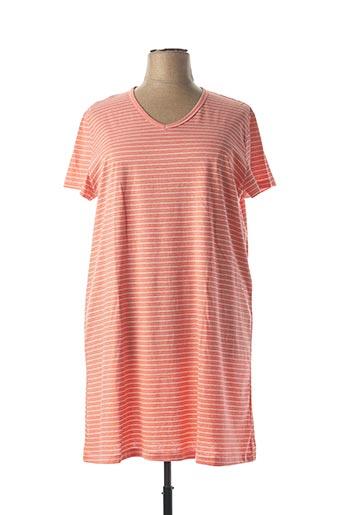 Chemise de nuit orange ARY & BELLE pour femme