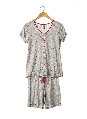 Pyjashort gris SENORETTA pour femme