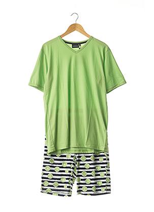 Pyjashort vert RINGELLA pour homme
