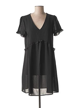 Robe mi-longue noir CERISE BLUE pour femme
