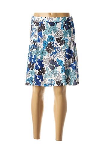 Jupe mi-longue bleu COMOUNAREGADERA pour femme