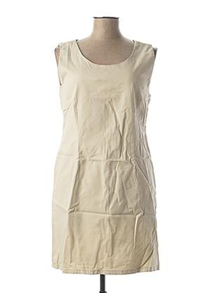 Robe courte beige MENSI COLLEZIONE pour femme