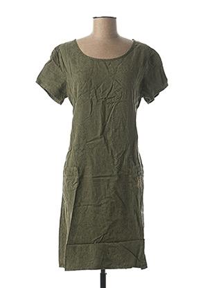 Robe mi-longue vert DIPLODOCUS pour femme
