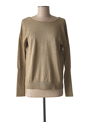 Pull col rond marron YAYA pour femme