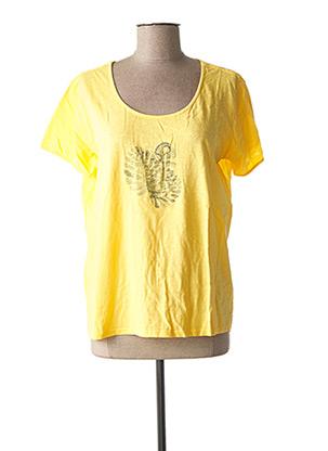 T-shirt manches courtes jaune DIPLODOCUS pour femme