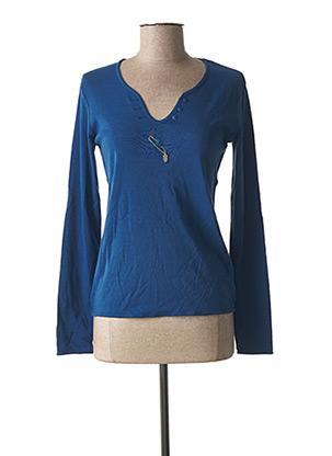T-shirt manches longues bleu DIPLODOCUS pour femme