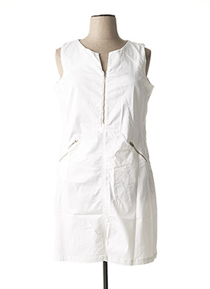 Robe mi-longue blanc PAUL BRIAL pour femme