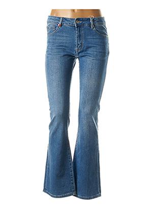 Jeans bootcut bleu F.A.M. pour femme