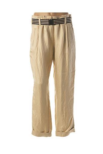 Pantalon chic beige BEATE HEYMANN pour femme