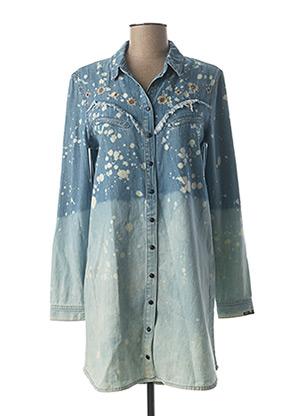 Robe courte bleu BSB pour femme