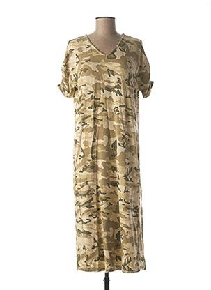Robe mi-longue vert CREAM pour femme