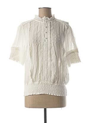 Blouse manches courtes blanc CREAM pour femme