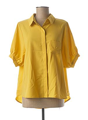 Chemisier manches courtes jaune MOLLY BRACKEN pour femme