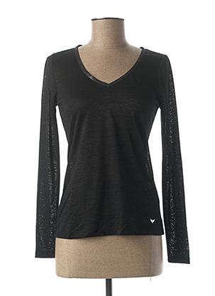 T-shirt manches longues noir LES P'TITES BOMBES pour femme