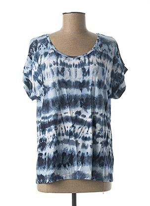 T-shirt manches courtes bleu CREAM pour femme