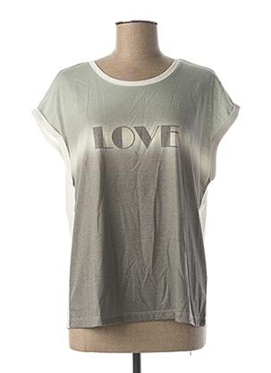 T-shirt manches courtes vert CREAM pour femme