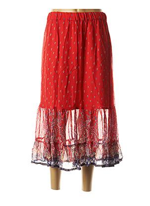 Jupe mi-longue rouge CREAM pour femme