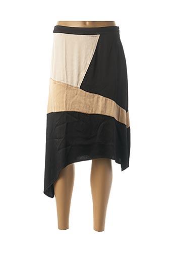 Jupe mi-longue noir NÜ pour femme