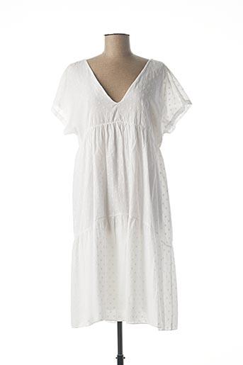 Robe mi-longue blanc B.YU pour femme