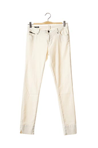 Pantalon casual blanc SCHOOL RAG pour femme