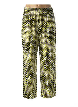 Pantalon casual vert FRANCK ANNA pour femme
