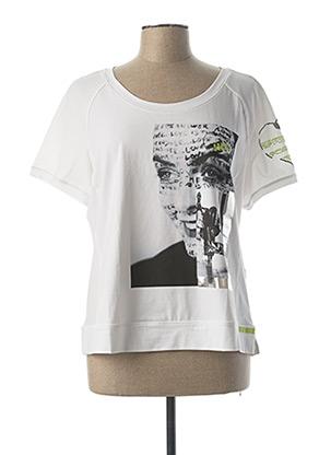 T-shirt manches courtes blanc ELISA CAVALETTI pour femme