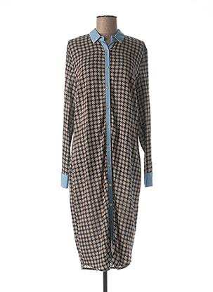Robe mi-longue bleu COSTA 8 MANI pour femme