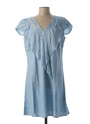 Robe mi-longue bleu ELISA CAVALETTI pour femme