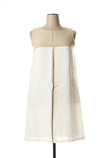 Robe mi-longue beige MARIA BELLENTANI pour femme