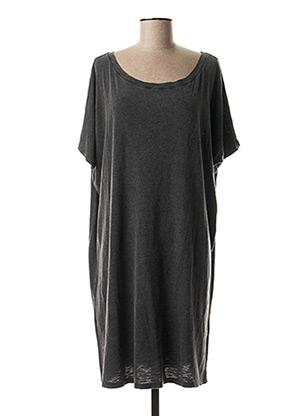 Robe mi-longue gris SCHOOL RAG pour femme