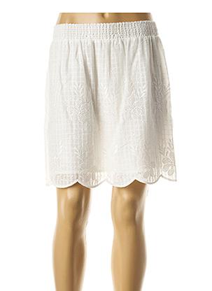 Jupe courte blanc SCHOOL RAG pour femme