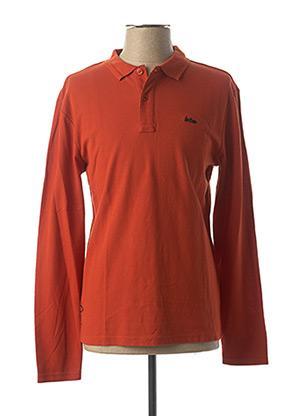 Polo manches longues orange LEE COOPER pour homme