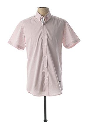Chemise manches courtes blanc DELAHAYE pour homme