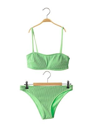 Maillot de bain 2 pièces vert UNDIZ pour femme