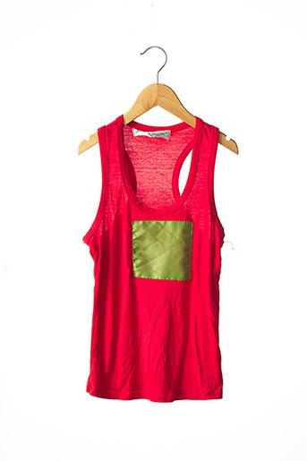 Débardeur rouge PATRICIA LOUISOR pour femme