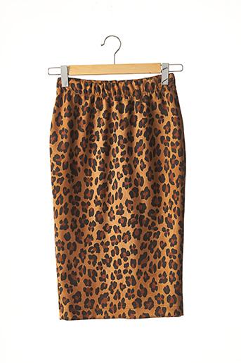 Jupe mi-longue marron COCOMORE pour femme